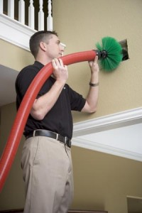 Contractor With Hose